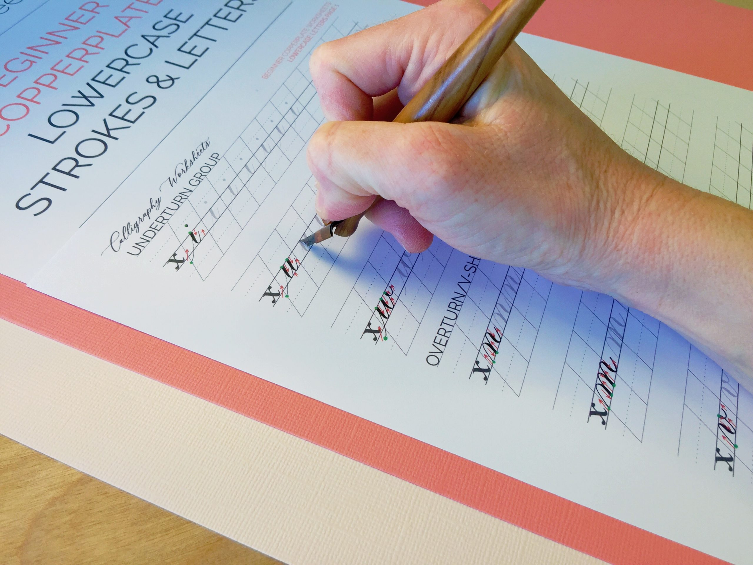 Beginner Copperplate Calligraphy Lowercase Strokes and Letters