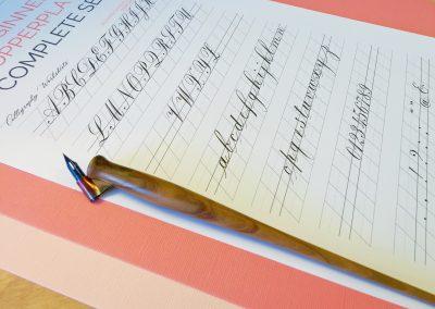 Beginner Copperplate Calligraphy Complete Worksheet Set Exemplar
