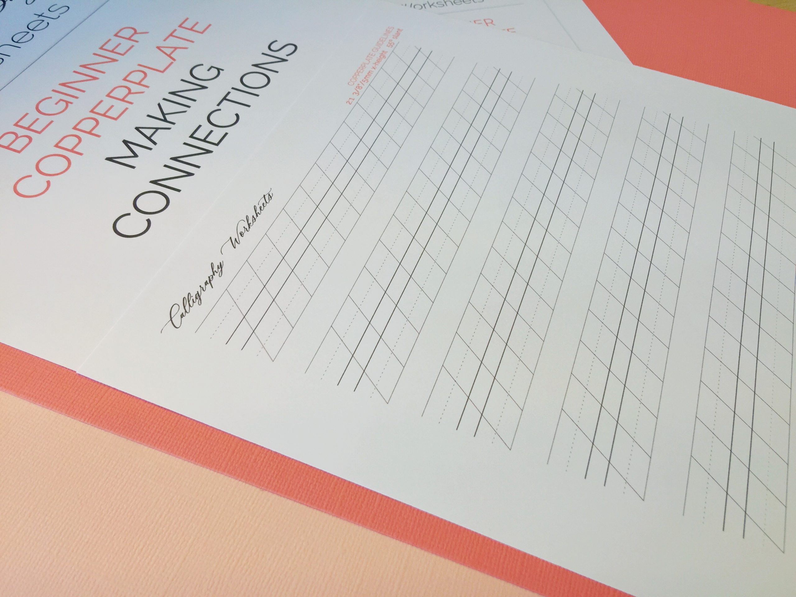 Beginner Copperplate Calligraphy Making Connections Guidelines