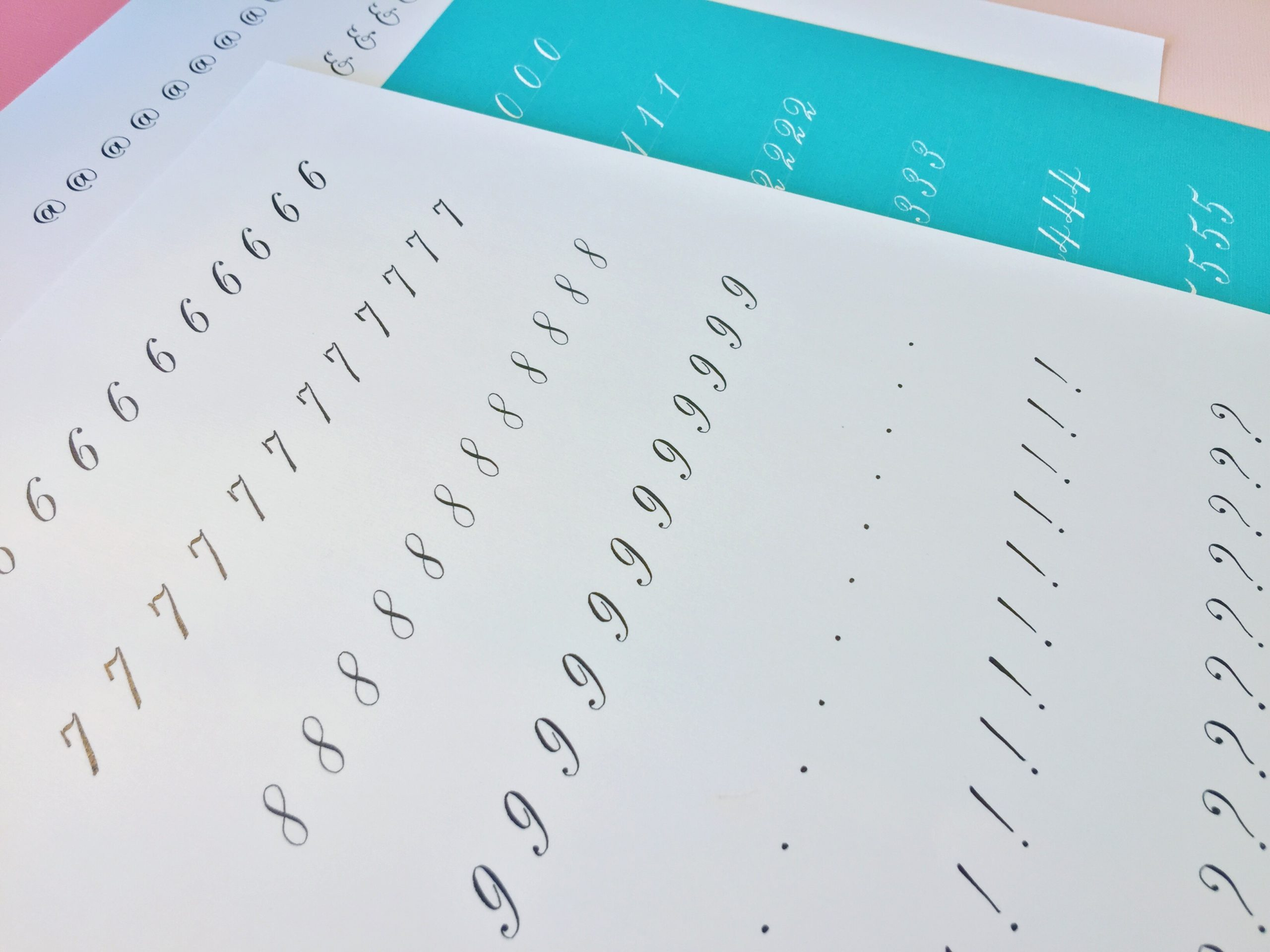 Beginner Copperplate Calligraphy Numbers and Punctuation