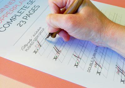 Beginner Copperplate Calligraphy Complete Worksheet Set Uppercase Letters