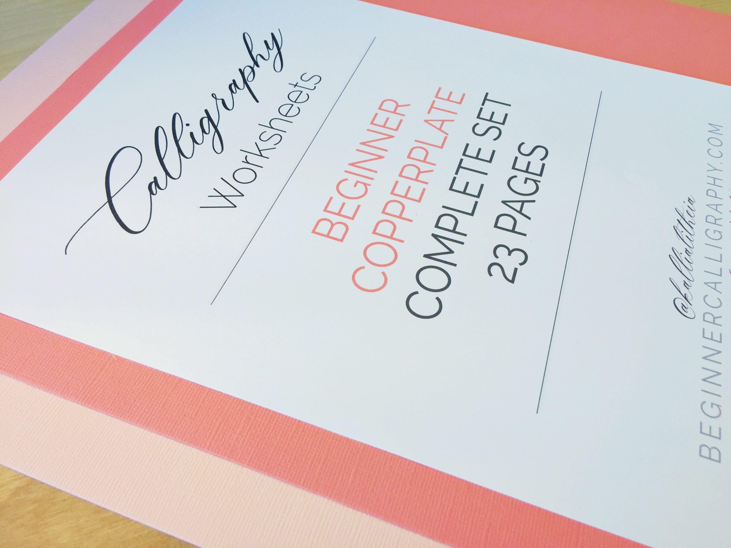 Beginner Copperplate Calligraphy Complete Worksheet Set