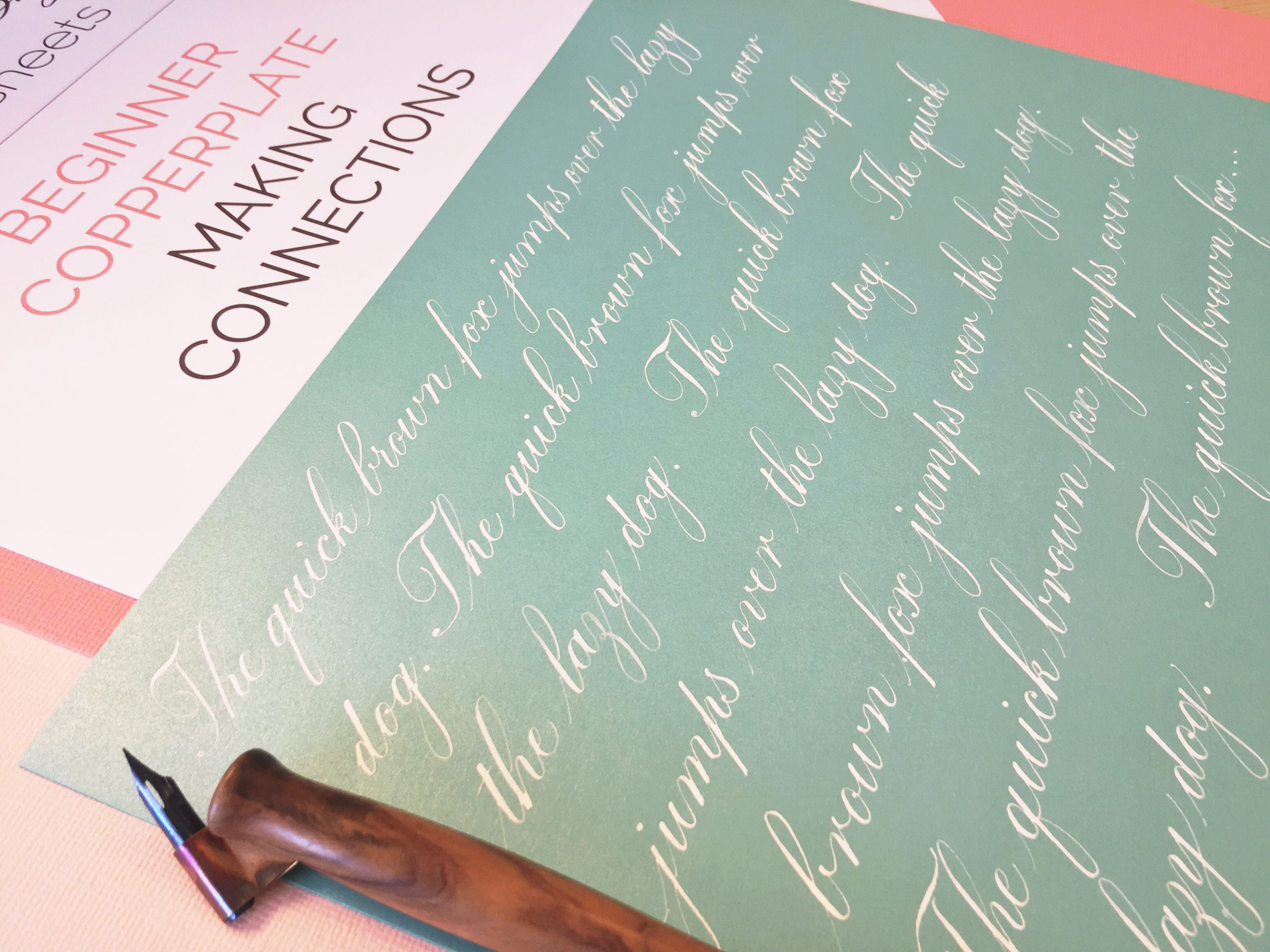 Beginner Copperplate Calligraphy Making Connections