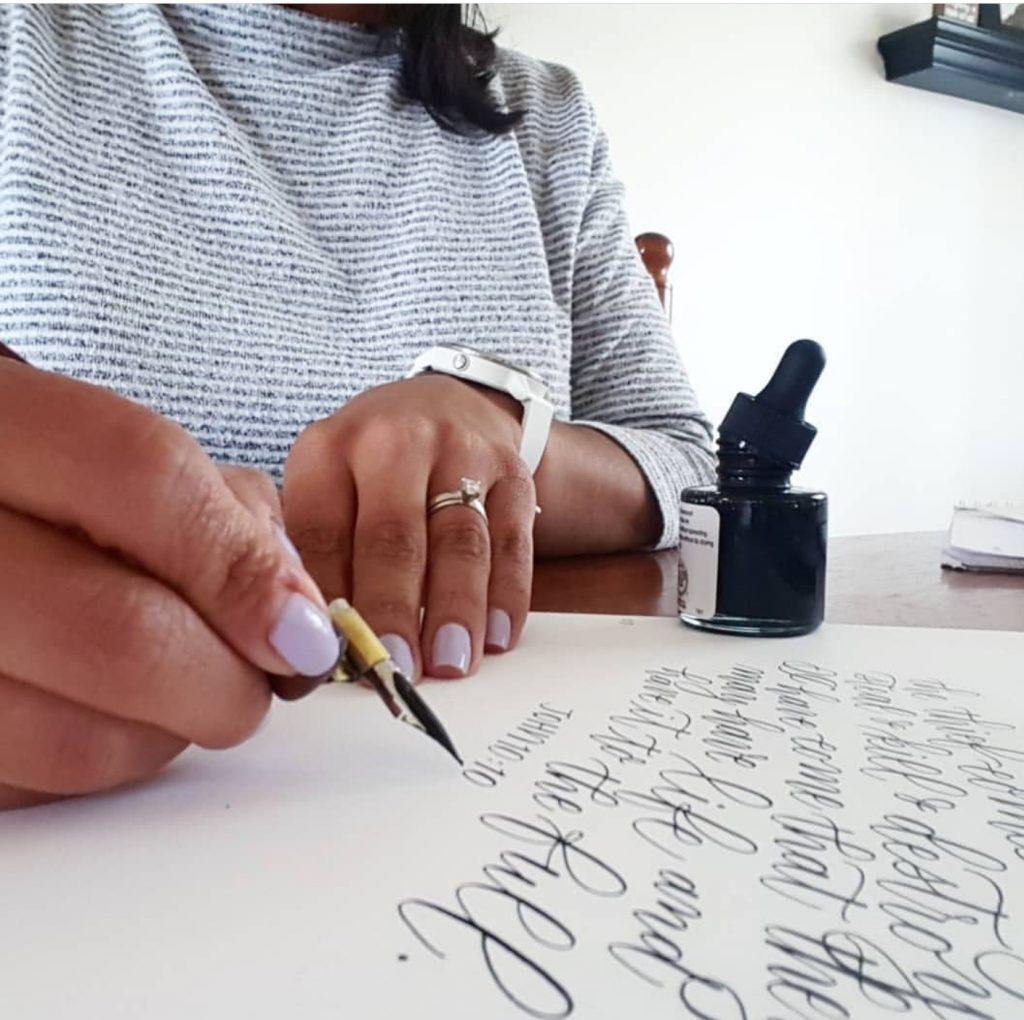 Mindy Christiansen calligraphy