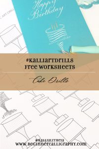 calligraphy art drills--cake drills