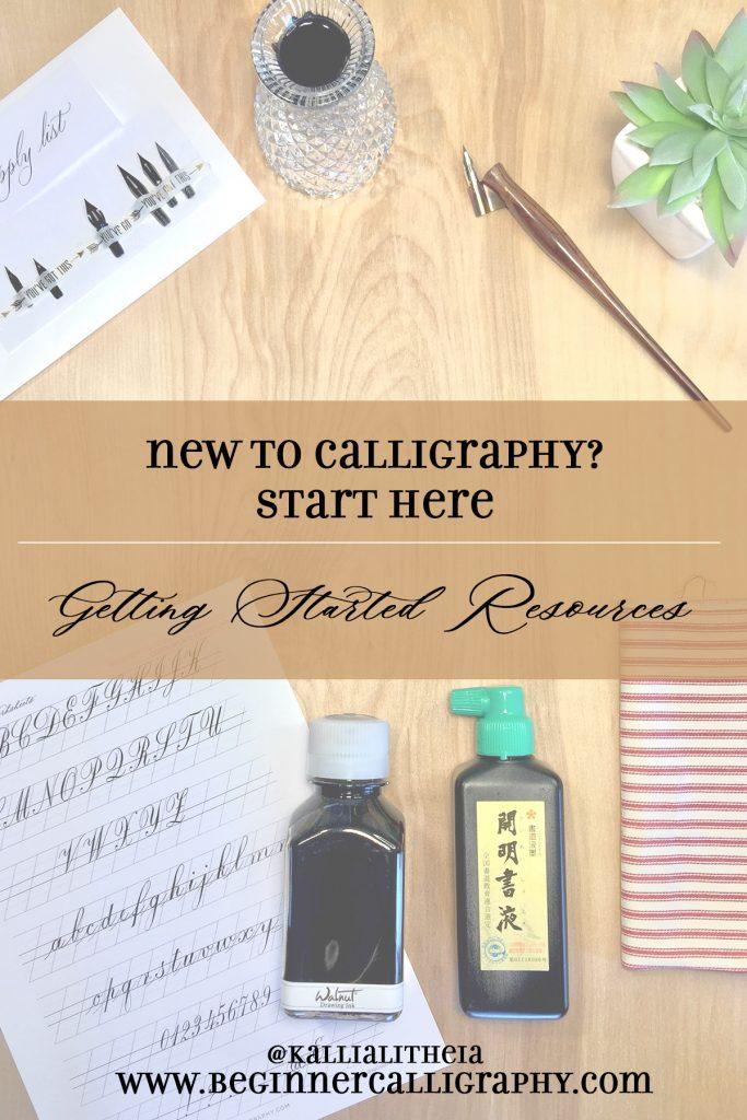 New to Calligraphy? Start Here