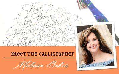 Meet the Calligrapher: Melissa Baker