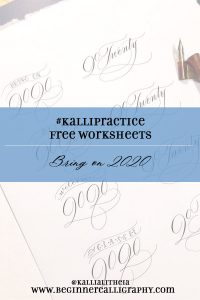 Free 2020 Calligraphy Worksheet