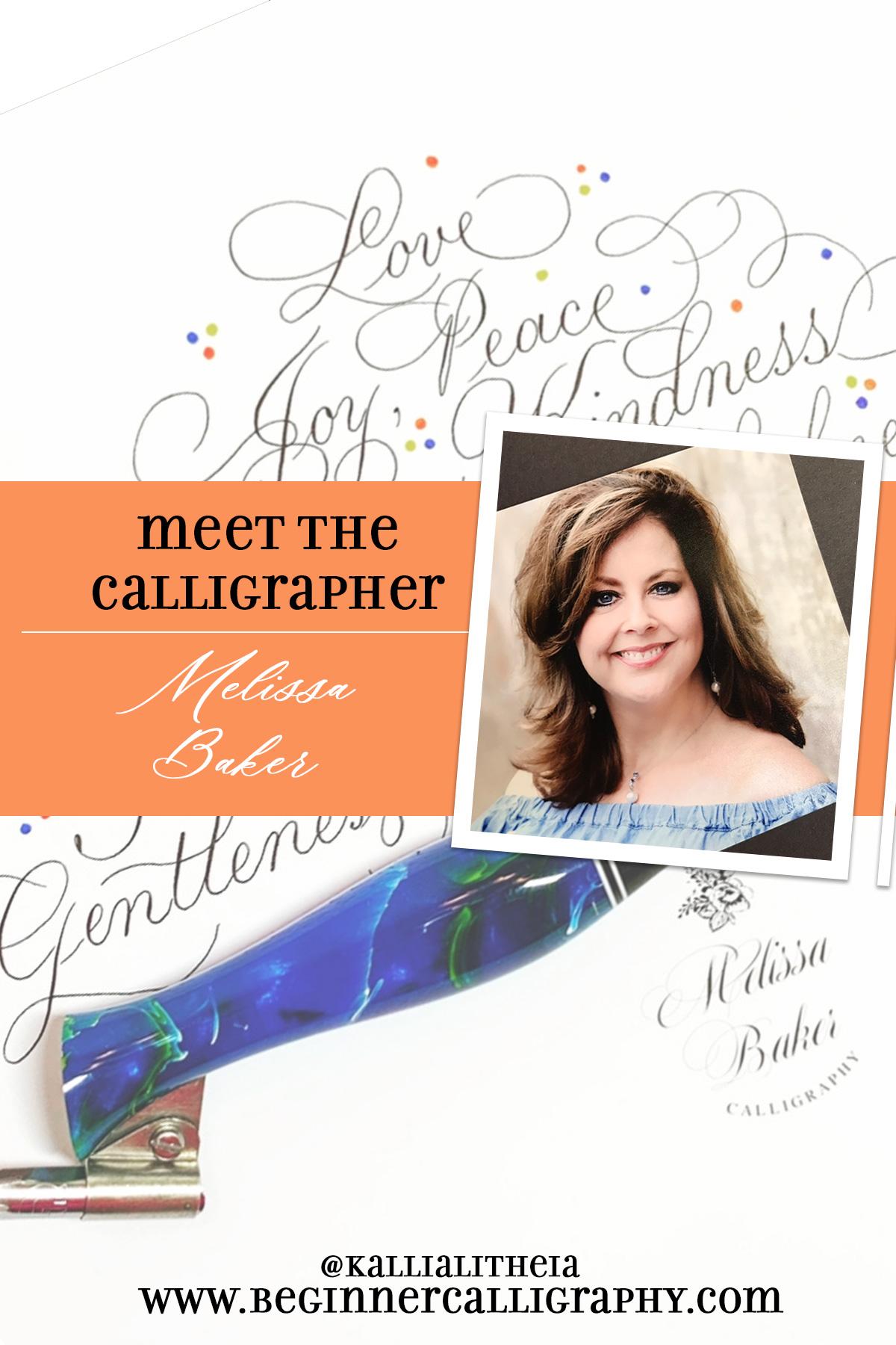 Melissa Baker Meet the Calligrapher